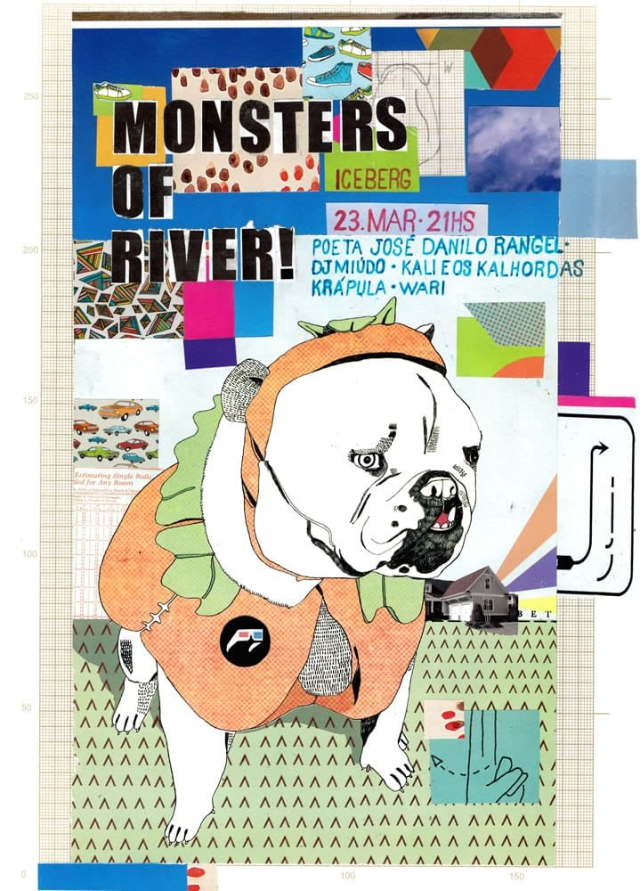 Cartaz Monsters of River - Arte: Lucas Biêni